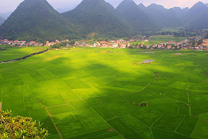The colorful Bac Son valley of Lang Son province