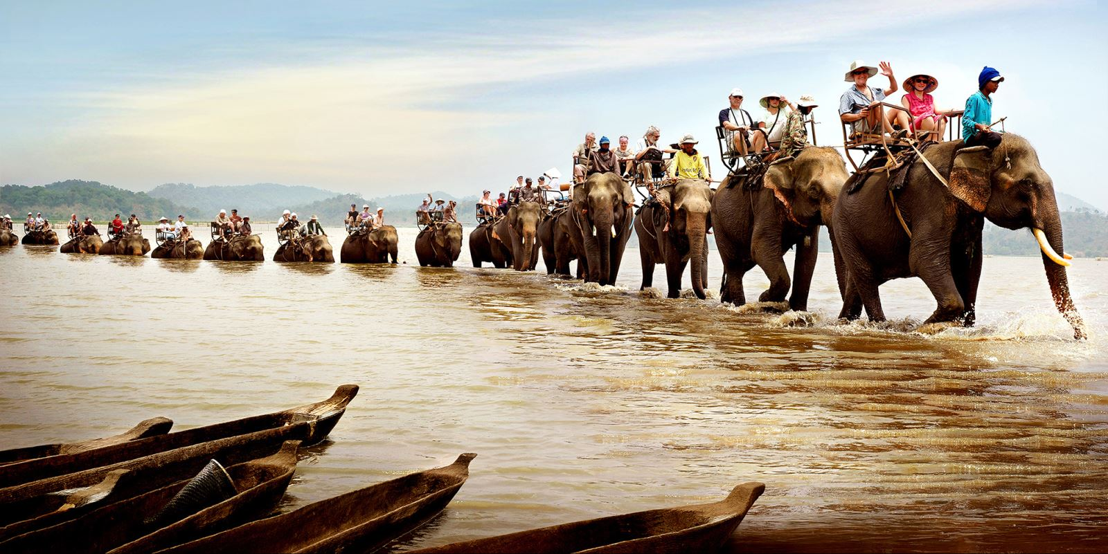 Elephant ride in Buon Me Thuot  Vietnam