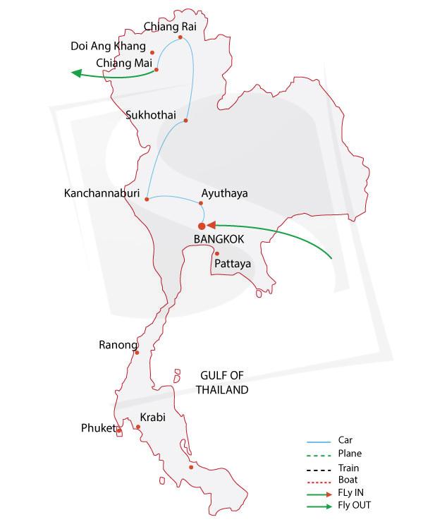 thailand tours around thailand Pattaya Thailand detailed itinerary