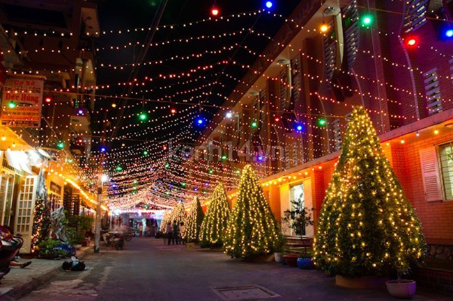 Steets Decoration in Christmas Hanoi Vietnam